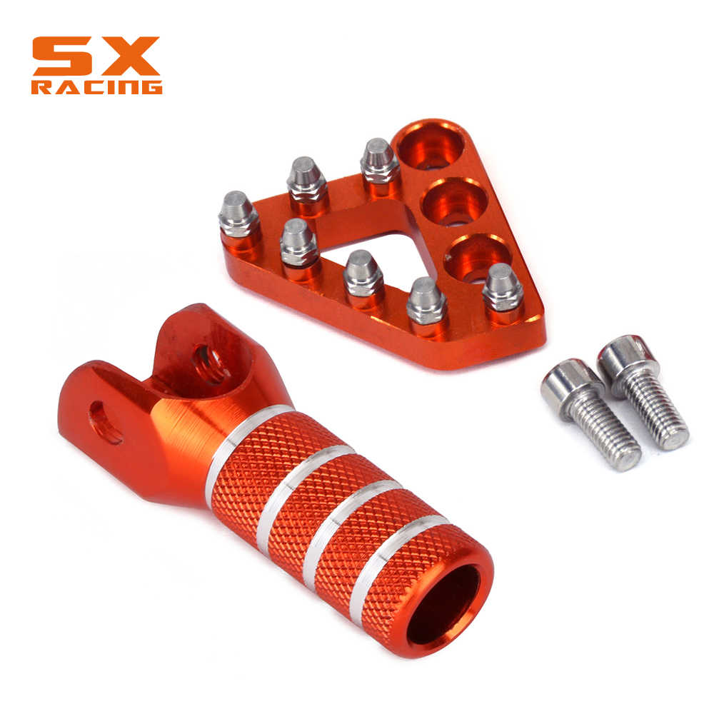 Motorcycle CNC Rear Brake Pedal Step Tips For KTM EXC EXCF SX SXF XC XCF  XCW SMR LC4 125 150 200 250 300 350 400 450 500 530