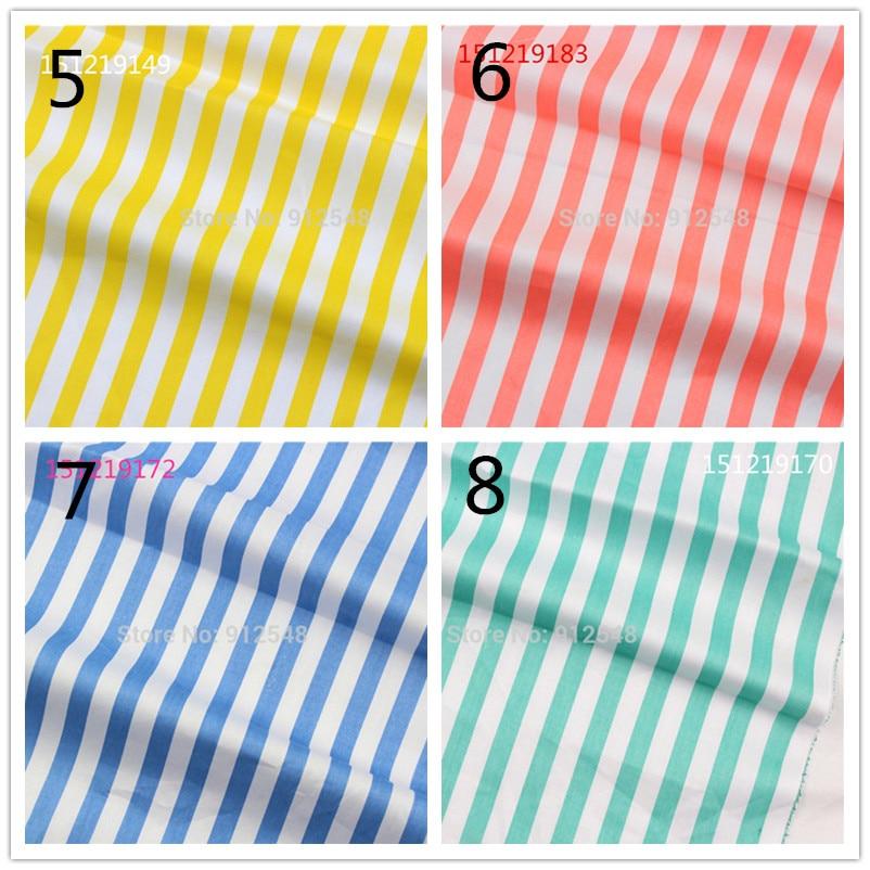 151219167 , 50cm*150cm Stripes Series cotton fabric,diy handmade patchwork cotton cloth home textile Free shipping