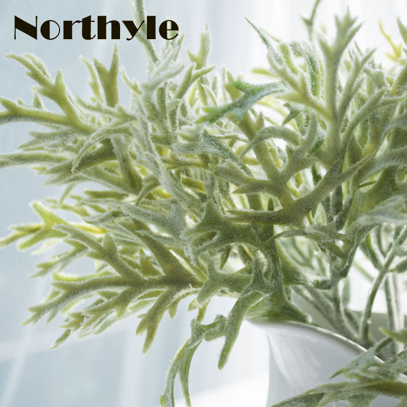 Dream House DH Antler leaf 2pcs / lot artificial plant garden decor greenery xmas
