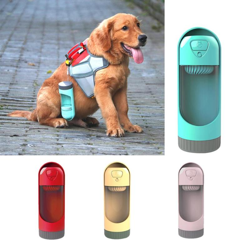 Portable Dog Water Bottle Pet Travel Water Bottle Cat: 300ml Portable Pet Dog Water Bottle Travel Dog Bowl Cups