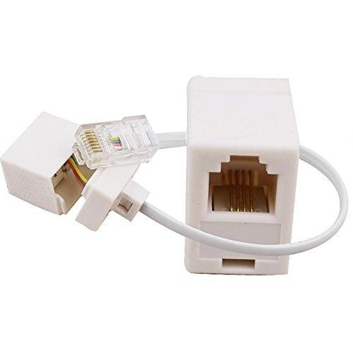 2 разъема 8P4C/RJ45 папа RJ11 6P4C к гнезду M/F адаптер телефонный Ethernet