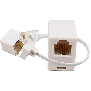 2 разъема 8P4C / RJ45 папа RJ11 6P4C к гнезду M / F адаптер телефонный Ethernet
