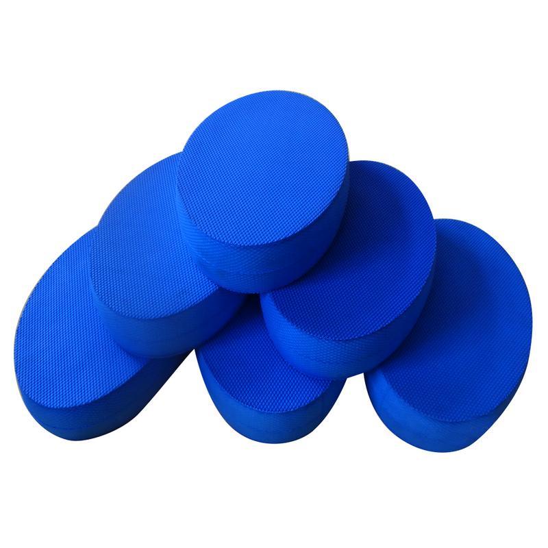 Yoga Foam Board Balance Pad Gym Fitness Exercise Cushion Blue Oval Cushion For Core Training& Physical Rehabilitation