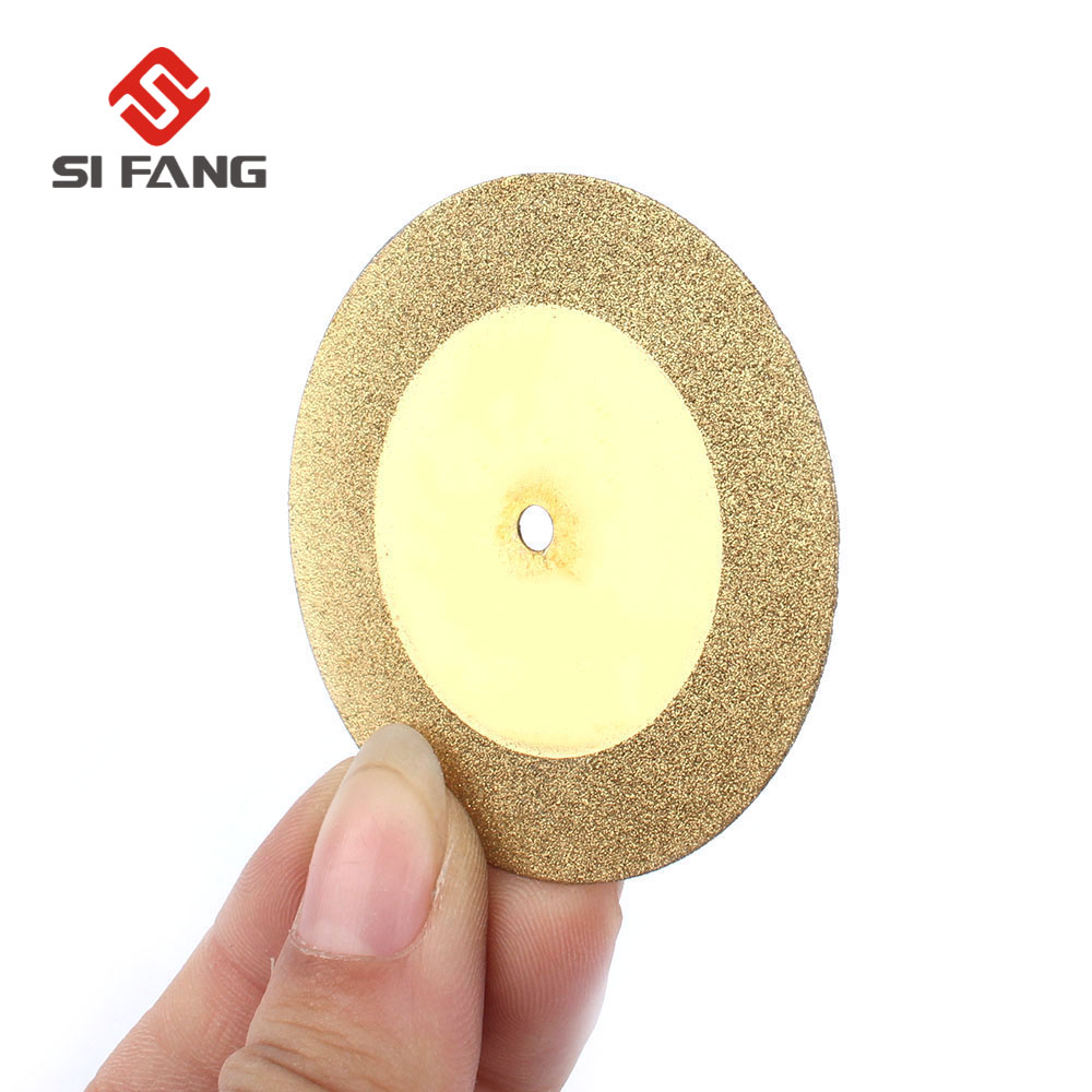 5pcs 50mm Diamond Cutting Discs & Drill Bit Saw Circular Cutting Disc Dremel Rotary Tool Titanize Diamond Discs With 3mm Bore