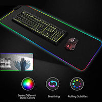 Большое цветное светодиодное освещение USB игровой коврик для мыши Коврик для мыши силиконовый для оптическая лазерная мышка мыши