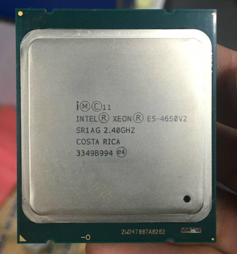 Intel Xeon E5 4650 V2 CPU 2.8 LGA2011 dix cœurs serveur processeur e5-4650v2