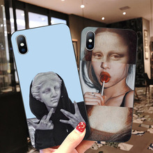 Black Back Ocean Phone Case For iPhone Xs XR XS Max X Classic Picture Phone Cover For iPhone 6 6s 7 8 Plus Soft TPU Silicon Case fashion brand pink soft silicon tpu case for iphone 11 pro max phone case for iphone x xr xs max 8 7 6 6s plus secret back cover
