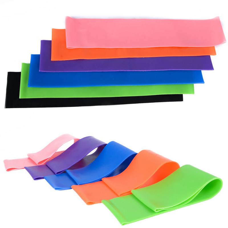 1Pcs Yoga Pilates Straps Training Rubber Bands Elastic Resistance Yoga Belt Fitness Loop Bands Yoga Gymnastics Equipment 50x5cm