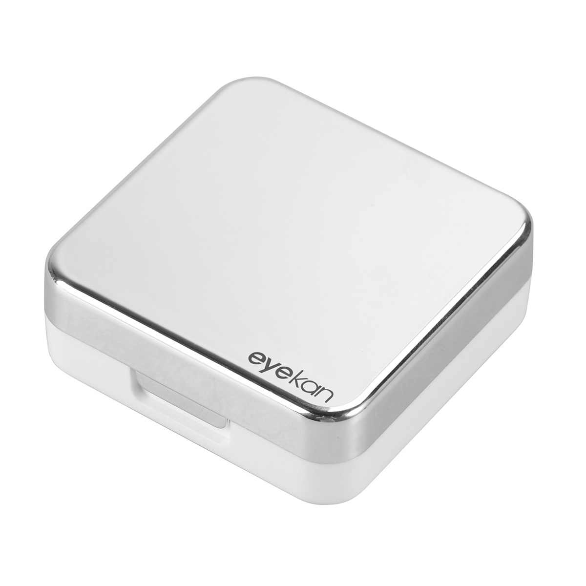 Mini Travel Simple Contact Lens Case Box Container Holder (Silver white)