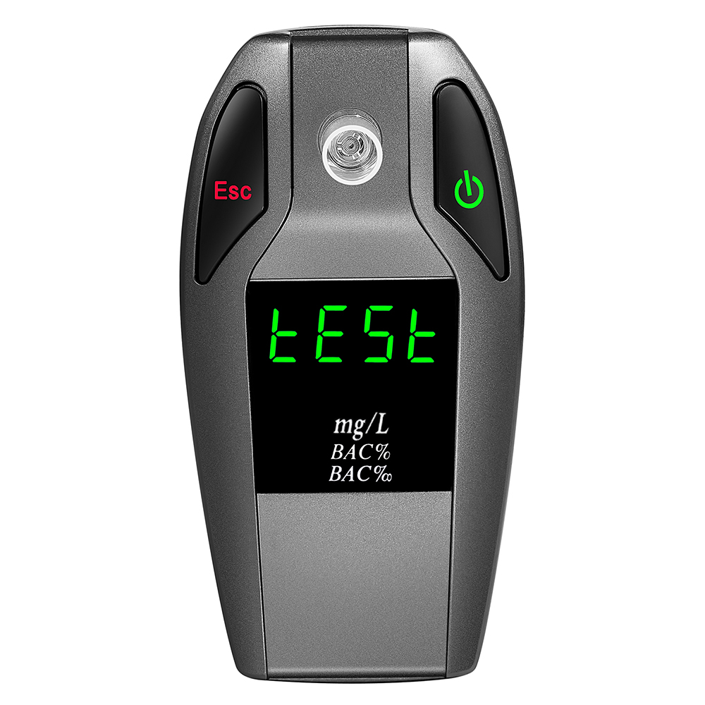 KKmoon EK911 Professional Digital Alcohol Breathalyzer Gas Analyzer Blood Alcohol Detector Meter with 5pcs Mouthpieces