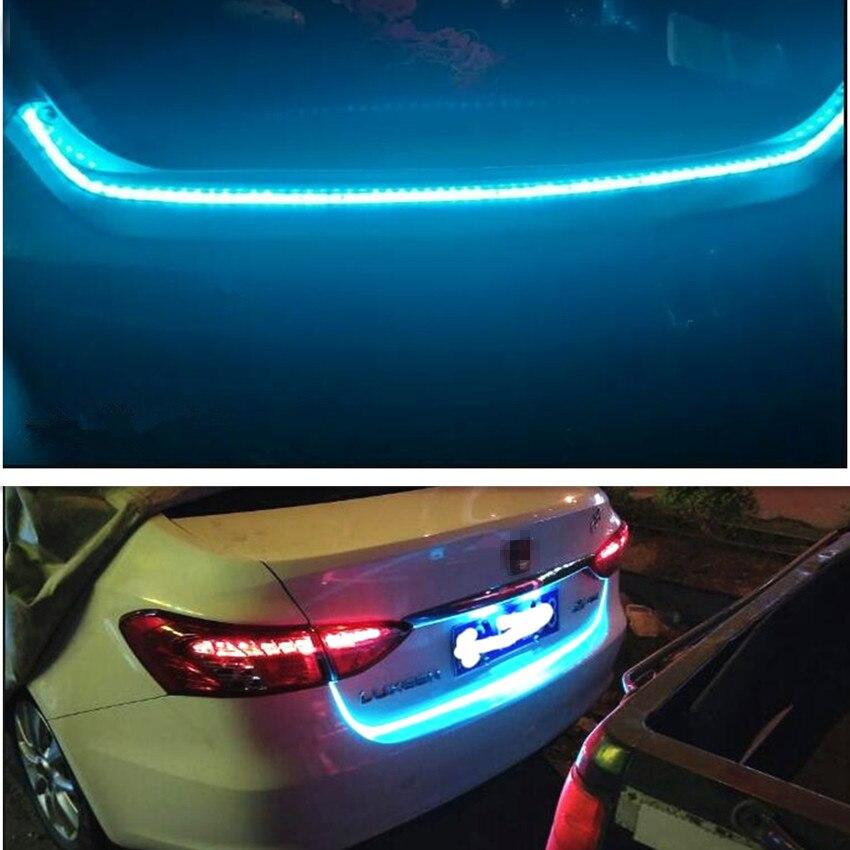 Voiture LED hayon coffre coloré flash lampe pour Toyota Corolla RAV4 Yaris Honda Civic Accord Fit CRV Nissan Qashqai Juke x-trail