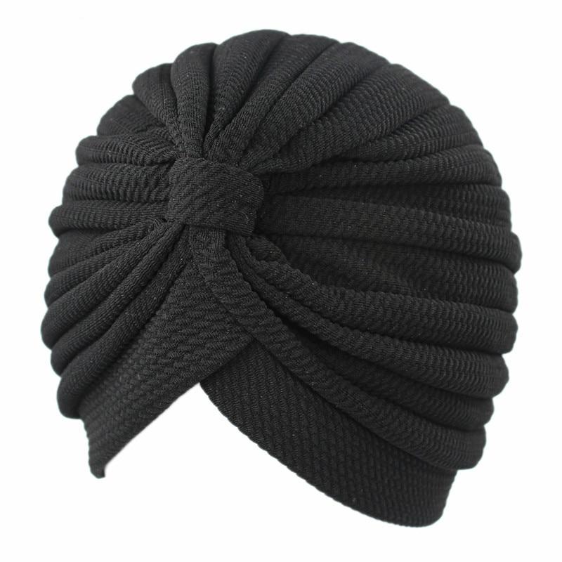 Women Simple Elastic Cloth Turban Hat India Hijabs Caps Muslim Women Hijab Hat Lady Hair Accessories Muslim Scarf Cap Wholesale