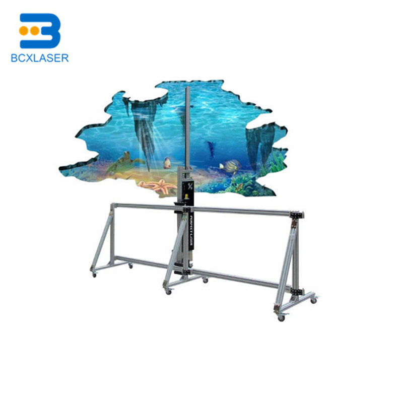 Intelligent Colorful CMYK Vertical Printer 3D Wall Printer Direct To Wall Printing Machine