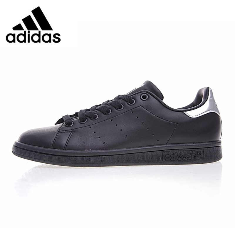 Adidas Mens Skateboard Shoes Shamrock Stan Smith Black Abrasion Resistant Balanced Breathable Sneakers #BB5156Adidas Mens Skateboard Shoes Shamrock Stan Smith Black Abrasion Resistant Balanced Breathable Sneakers #BB5156