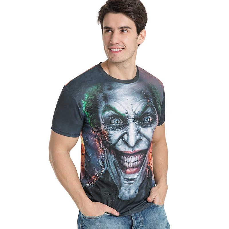 BIANYILONG/Новинка 2017, Мужская/Женская 3d Футболка с принтом Джокера, летние топы с короткими рукавами, футболки, модная футболка, Размер M-5XL