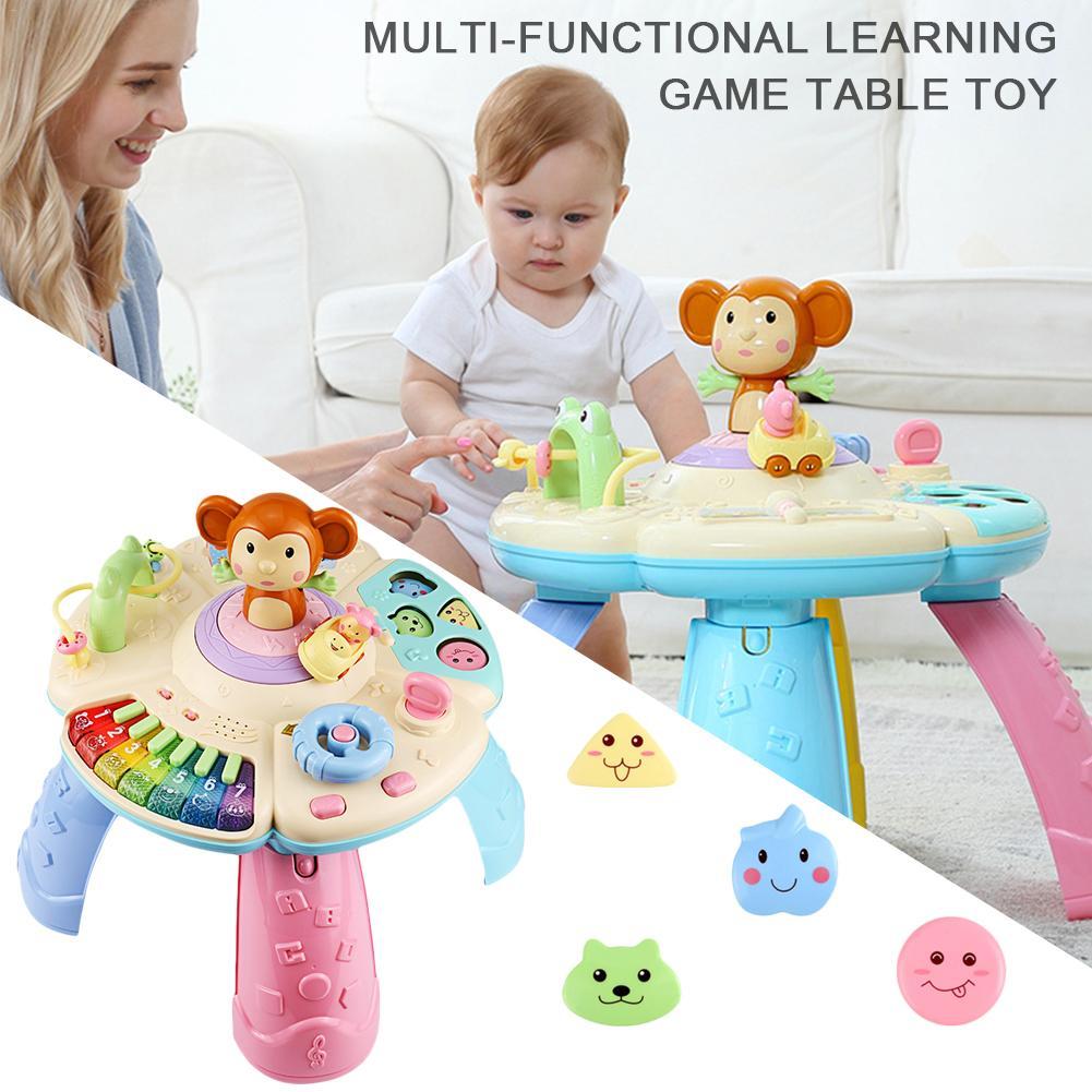 Bébé jouets Musical apprentissage Table 6 mois-éducation précoce musique activité Center jeu Table bambins, infantile, enfants jouets pour 1 2
