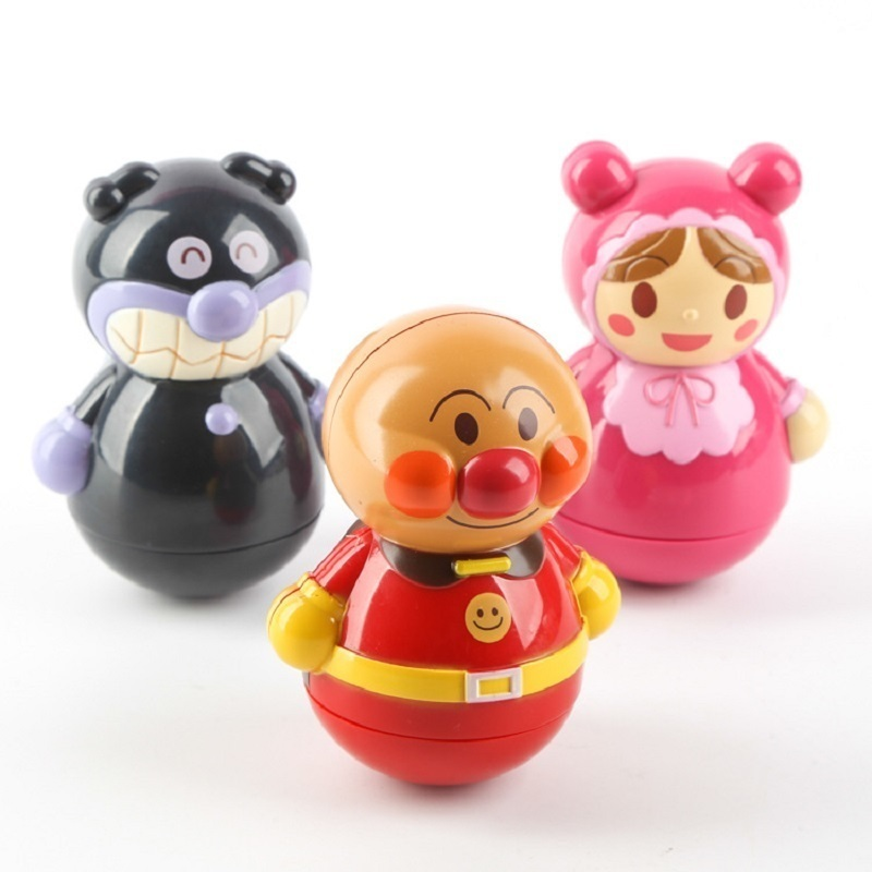 1 Pc Mini Lovely Cartoon Tumbler Anpanman Ornament Toys For Children Funny Roly-poly Figures Doll