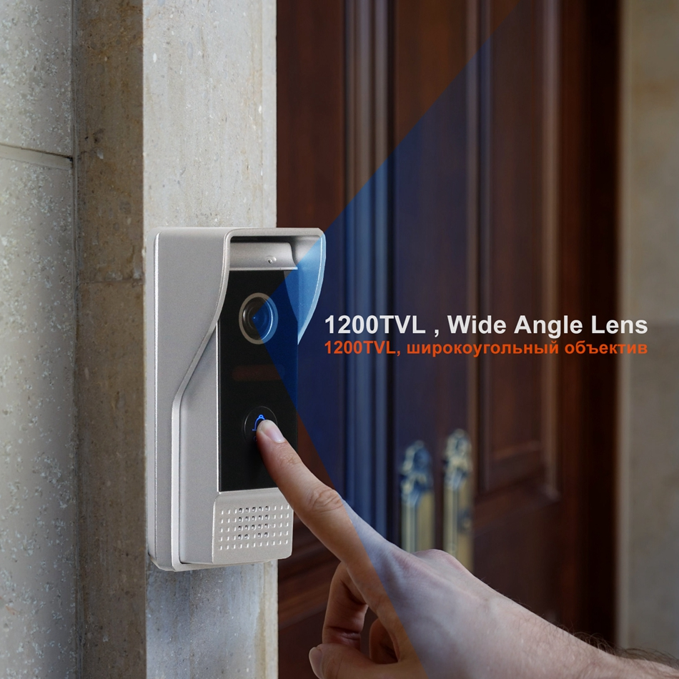 Image 2 - Homefong Video Doorbell Door Phone Doorbell 1200TVL Wide Angle Camera Security Video Intercom Doorbell Picture  Video Recording-in Video Intercom from Security & Protection