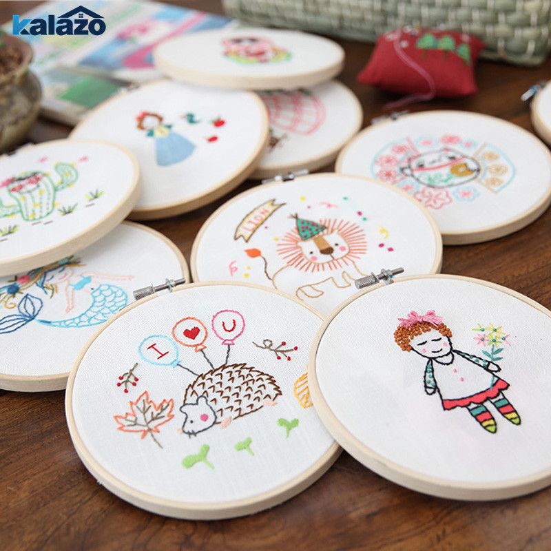 1pc Cartoon DIY Ribbons Embroidery For Beginner Needlework Kits Cross Stitch Craft Sewing Supplies Home Wall Decor Birthday Gift(China)