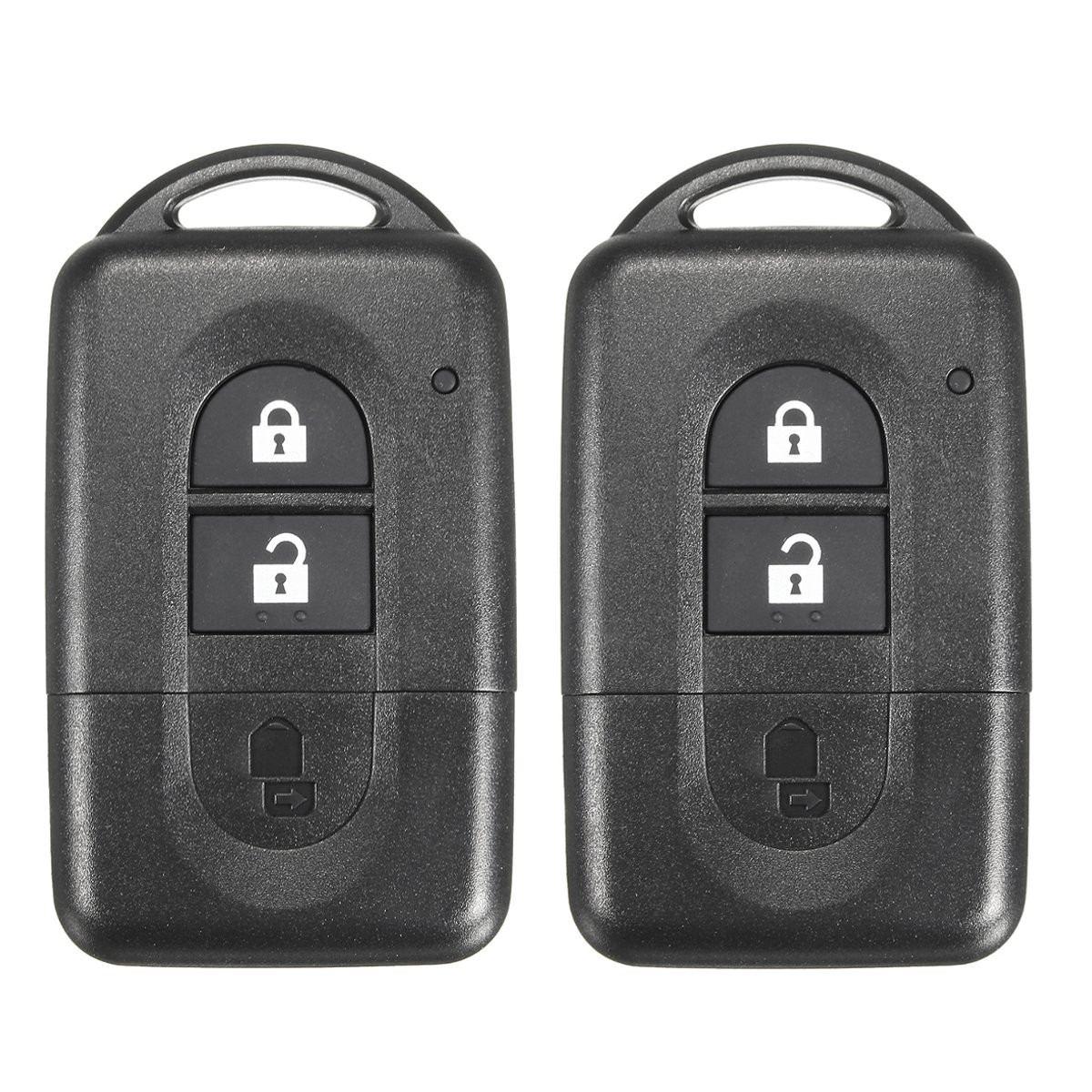 2PCS 2 Button Car Remote Smart Key FOB Case Shell For NISSAN MICRA X-TRAIL QASHQAI JUKE DUKE NAVARA