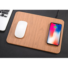 Besegad 2 in 1 QI Wireless Desktop Fast Charging Mouse Pad Charger For iPhone X 8 Plus Samsung S9 Plus Note 8 S8 S6 edge+(China)