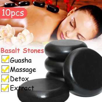6*6cm 10pcs Massage Stones Massage lava Natural Energy Massage Stone Set Hot Compress Spa Rock Basalt Body Health Care Stone - DISCOUNT ITEM  24% OFF Beauty & Health