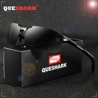 Gafas de sol polarizadas de pesca caliente para hombres QUESHARK marco de Metal Ultra ligero para hombres senderismo deportes de Golf
