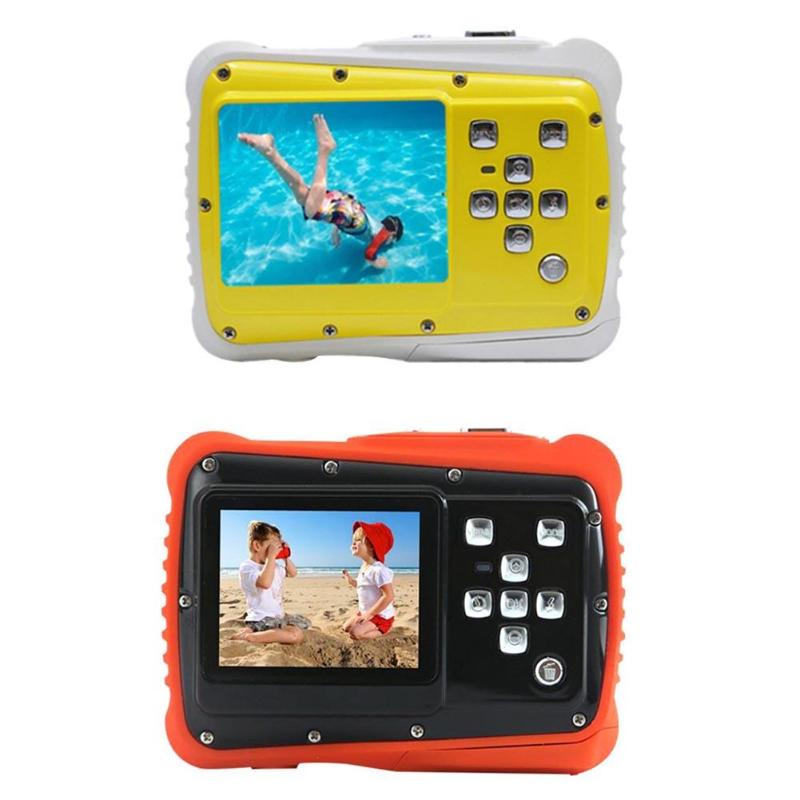 Kids Cartton Mini Digital Camera 2inch 12MP HD 720P Waterproof Portable Camcorder Video Recorder with Microphone