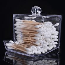 Акриловый Ватный тампон держатель для хранения коробка прозрачный макияж ватный диск чехол косметический контейнер органайзер для ювелирных изделий и банки для конфет