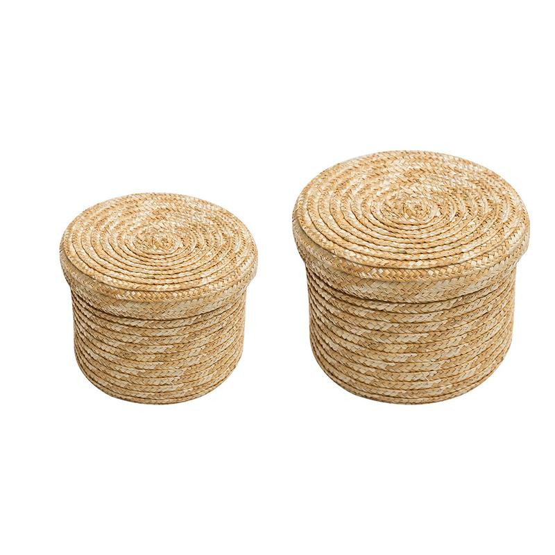Wheat Straw Woven Storage Basket Storage Basket Innovative Basket Rustic Natural Brown Finish Storage