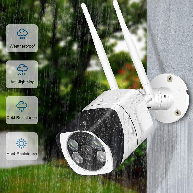 Security-Camera Outdoor Wifi Motion-Detection Night-Vision 1080p Wireless With Clear