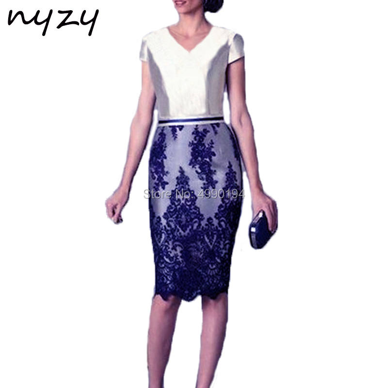 NYZY M42A Two Tone Blue Silver   Cocktail     Dress   Elegant Robe Soiree for Wedding Party Guest Evening vestidos de festa curto