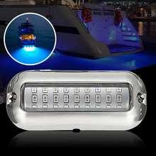12V 50W 27LED 316 Stainless Steel Boat Transom font b Lamp b font Underwater Pontoon Marine