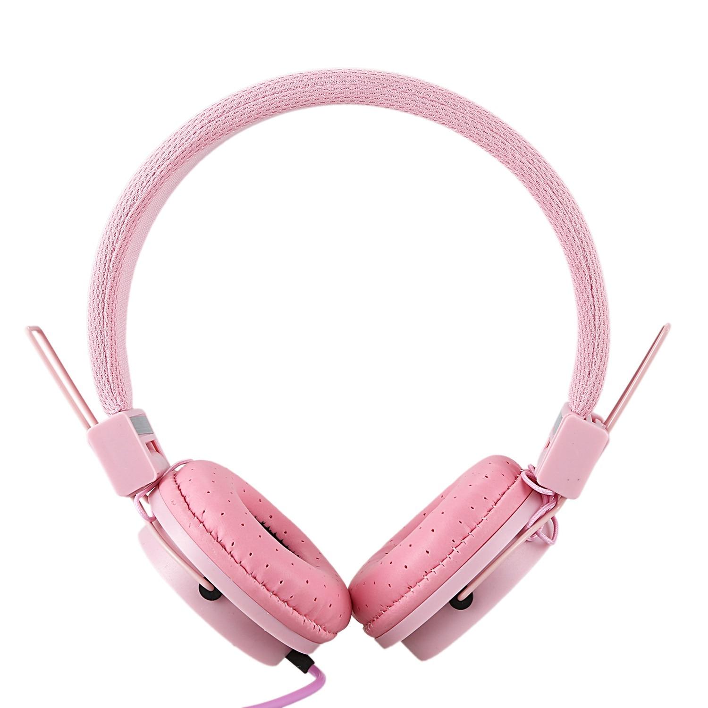 Fashionable Headset Foldable Design Children Kids Over Wired Earphones Headband Kids Girl Headphones For Ipad Tablet