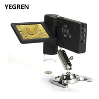 Профессиональный 500X портативный цифровой микроскоп реальный 5.0MP 3 ЖК дисплей с 8 светодиодный Поддержка USB SD карты фото и видео захвата