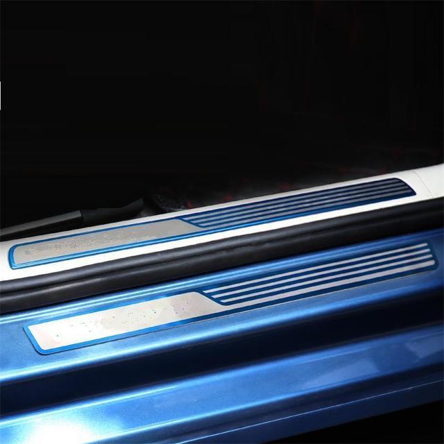 Decorative Foot Pedal Door Exterior High-Grade Mouldings Accessory Protecter Car Styling 17 FOR Volkswagen Lamando