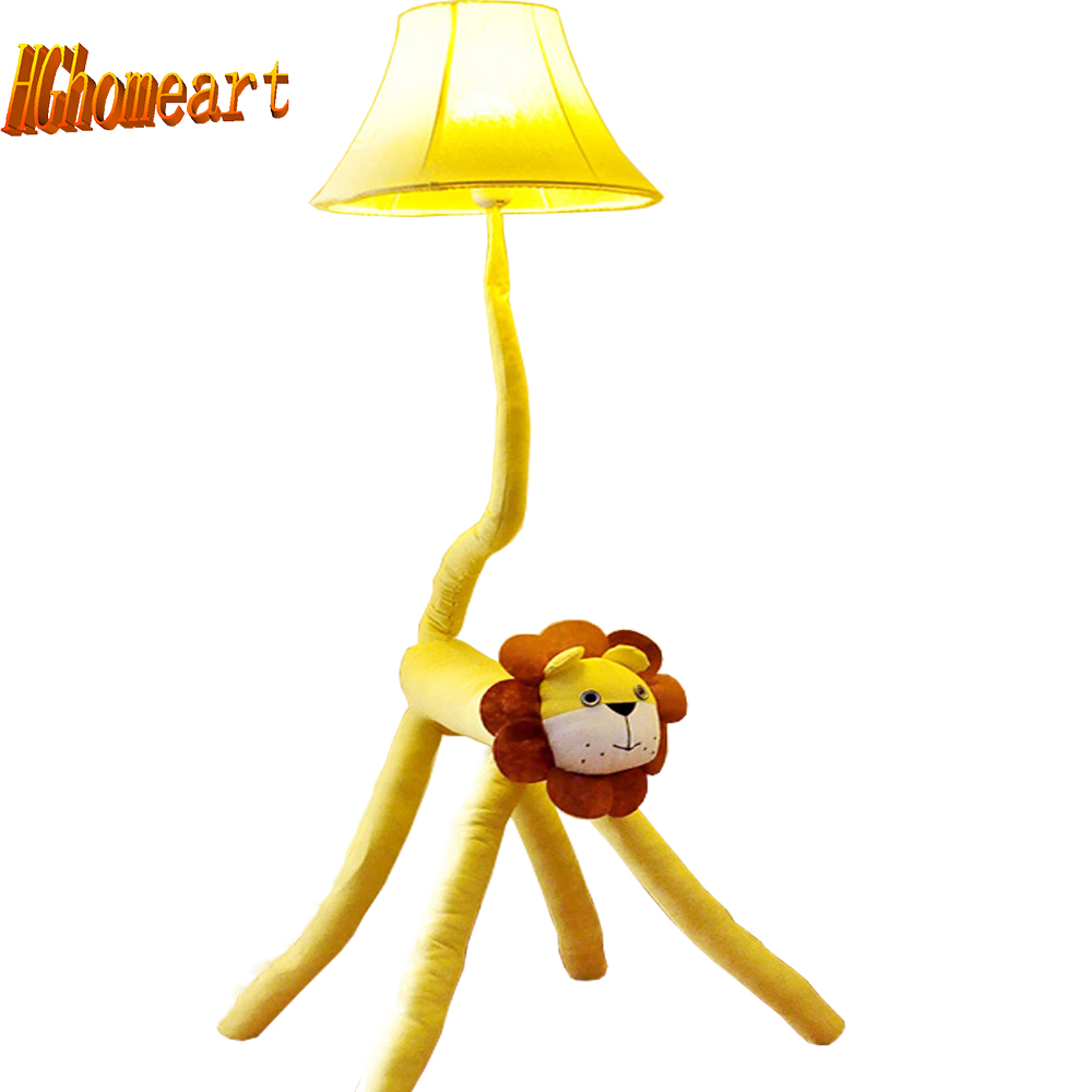 Hghomeart Led Yellow Lion Kids Floor Lamps Wood Cartoon Decor Standing Lamps 110/220V E27 Fabric European Lighting Floor Lamp Hghomeart Led Yellow Lion Kids Floor Lamps Wood Cartoon Decor Standing Lamps 110/220V E27 Fabric European Lighting Floor Lamp