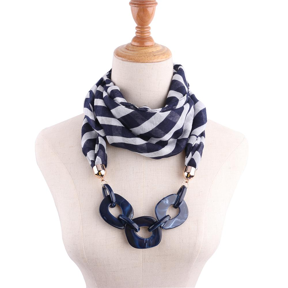 HONGHUACI Decorative Jewelry Necklace Style Voile Scarf Beads Pendant Head Scarves  Women Foulard Femme Hijab Free Shipping