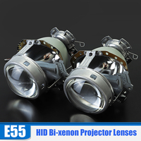 2pcs/set 3.0'' 3.0'' E55 Bi xenon Projector Lens Replace Headlight D1S D2S D4S D2H Bulb
