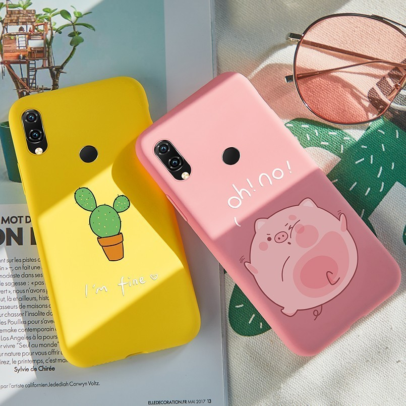 Silicone Case For <font><b>Xiaomi</b></font> <font><b>Redmi</b></font> Note 7 Case Cute Animal Cat <font><b>Rabbit</b></font> Matte Cover 3D Relief Bumper For <font><b>Redmi</b></font> 5 Plus Note 5 <font><b>6</b></font> Pro 6A image