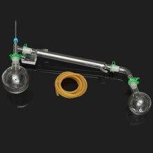 KICUTE 500 мл дистилляционный аппарат лабораторный химический набор стеклянной посуды набор дистилляционный аппарат для дистилляции стекла 24/29 суставов