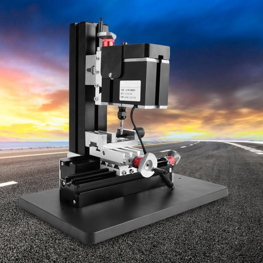 100 New 60W 12000RPM Mini Metal Lathe DIY Miniature Milling Machine Miller 100 240V mesa taladro