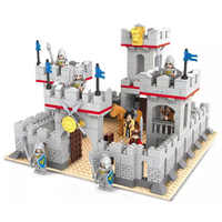 Model building block set compatible with lego Knights and horse castle 686 pcs 3D Brick Educational Hobbies Toys for Kids