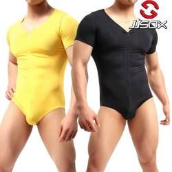Сексуальное боди Для мужчин молния Корректирующее белье Comfy Модальные Bodywear Для мужчин s вырвать майка для тренировки гей женское белье для