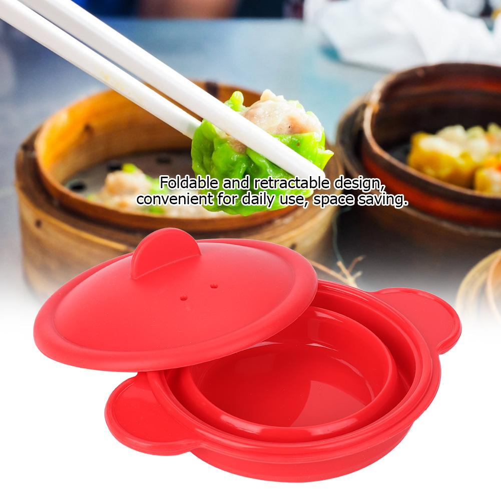 New Arrival Foldable Silicone Steamer Kitchenware Retractable Steam Pot Cooking Steamer With Cover