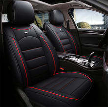 PU Leather Full Car Seat Cover Cushion Protector Pad Mat Universal Size For Most Car Four Seasons Interior Accessories dewtreetali universal automoblies seat cover four seaons car seat protector full set car accessories car styling for vw bmw audi