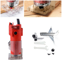 220V 580W 30000RPM 6mm Electric Hand Trimmer Wood Laminator Router For Joiners Lift Knob Cutting Exact for Wooden