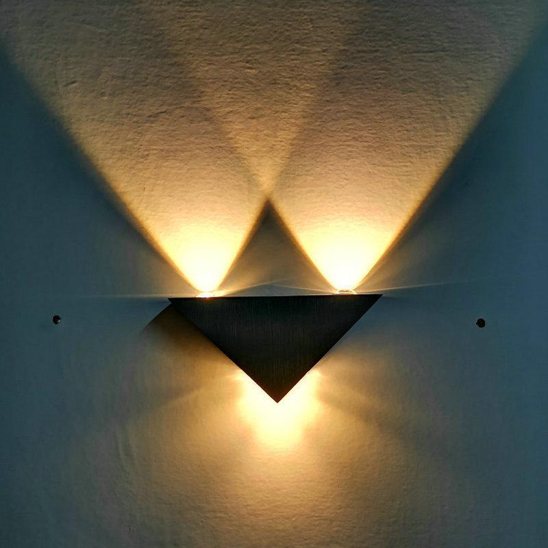 Lights & Lighting De.soul Modern Led Wall Lamp 3w Aluminum Body Triangle Wall Light For Bedroom Home Lighting Luminaire Bathroom Light Fixture Led Indoor Wall Lamps