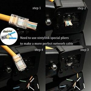 Image 5 - Xintylink EZ rj45 connettore cat6 rg rj 45 spina del cavo ethernet utp 8P8C rg45 gatto 6 presa di rete lan schermato modulare conector