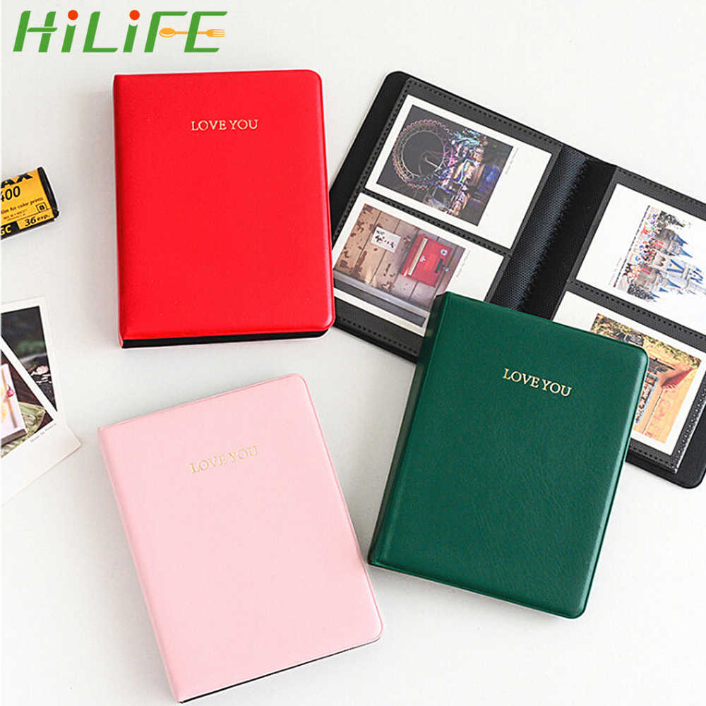 HILIFE Photography Albums Polaroid Photo Albums For Instax Mini Film 8 Mini Instant Picture Case Storage 64 Pockets  3 inch
